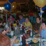 "Photo of ""meet the wish kids"" Jessica, Drew, and their families, hosted once again by Gwennies Old Alaska Restaurant."